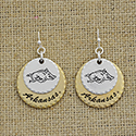 Arkansas Razorbacks Medallion Earrings