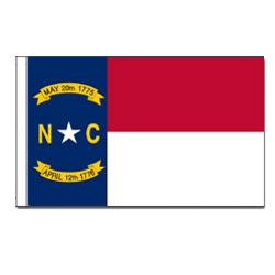 North Carolina Flag with Pole Hem, FBPP0000011198