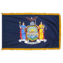 New York Fringed Flag with Pole Hem