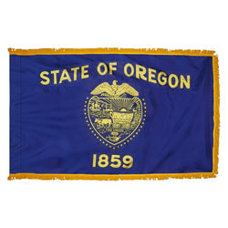 Oregon Fringed Flag with Pole Hem, FBPP0000011287