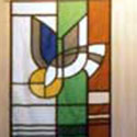 Stained glass look for church