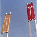 Oversized outdoor banners for Egyptian display at museum