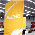Indoor banners for furniture store