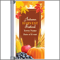 Fall Street Pole Banners
