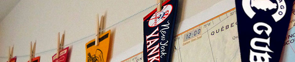 Root for your favorite team right at home with a sports pennant.