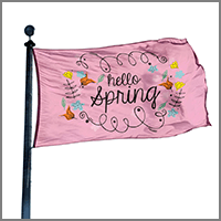 Spring Banners and Flags for home or garden