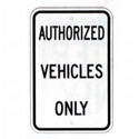 Authorized Vehicles Only Sign, SSG20RA5