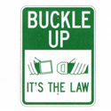 Buckle Up It's The Law Sign, SSG51RA9