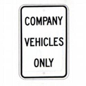 Company Vehicles Only Sign, SSG80RA5