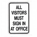 All Visitors Must Sign In Sign, SSG89RA5