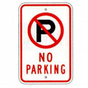 No Parking Sign, SSR101RA5