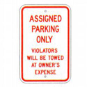 Assigned Parking Only Sign, SSR200RA5