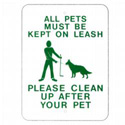 All Pets Must Be On Leash Sign, SSR210RA5