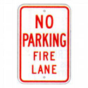 No Parking Fire Lane Sign, SSR53RA5