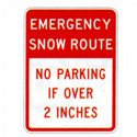 Emergency Snow Route Sign, SSR7203RA9