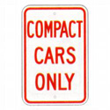 Compact Cars Only Sign, SSR72RA5
