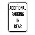 Additional Parking In Rear Sign, SSR73RA5