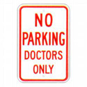 No Parking Doctors Only Sign, SSR78RA5