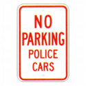 No Parking Police Cars Sign, SSR79RA5