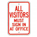 All Visitors Must Sign In at Office Sign, SSS215RA5