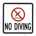 No Diving Sign, SSS218RA8