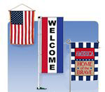 street pole banners, historical banners, home and garden banners, military and service banners, religious banners, safety banners, state and territory banners, cultural awareness, sports banners.