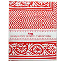 TAG Indigo Red Tablecloth, TAG203488
