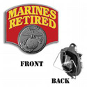Marines Retired Hitch Cover, THMAR19C
