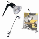 Banner Stand Light with C-Clamp, TICEX1