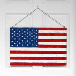Horizontal American Flag Wall Hanging