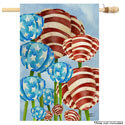 Red White and Tulip House Banner, TOL1010219H