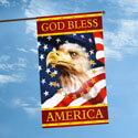 God Bless America House Flag, TOL1010401H