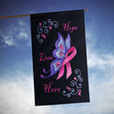 Hope Lives Here Cancer Awareness House Banner