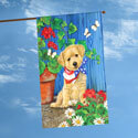 Patriotic Puppy House Flag, TOL101179H