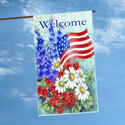 Patriotic Welcome House Flag, TOL102060H