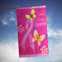 Love Hope Support Cancer Awareness House Banner, TOL102668H