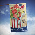 Patriotic Watering Can House Banner, TOL108224H