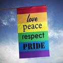 Love Peace Respect Pride House Banner, TOL109521H