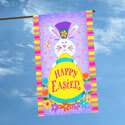 Tophat Bunny House Flag, TOL109608H