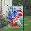 Patriotic Welcome Garden Flag, TOL112060G