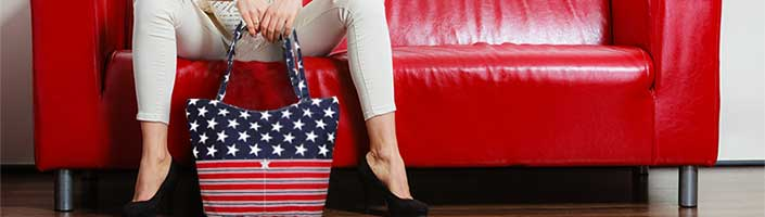 Patriotic and Americana Totes and Handbags