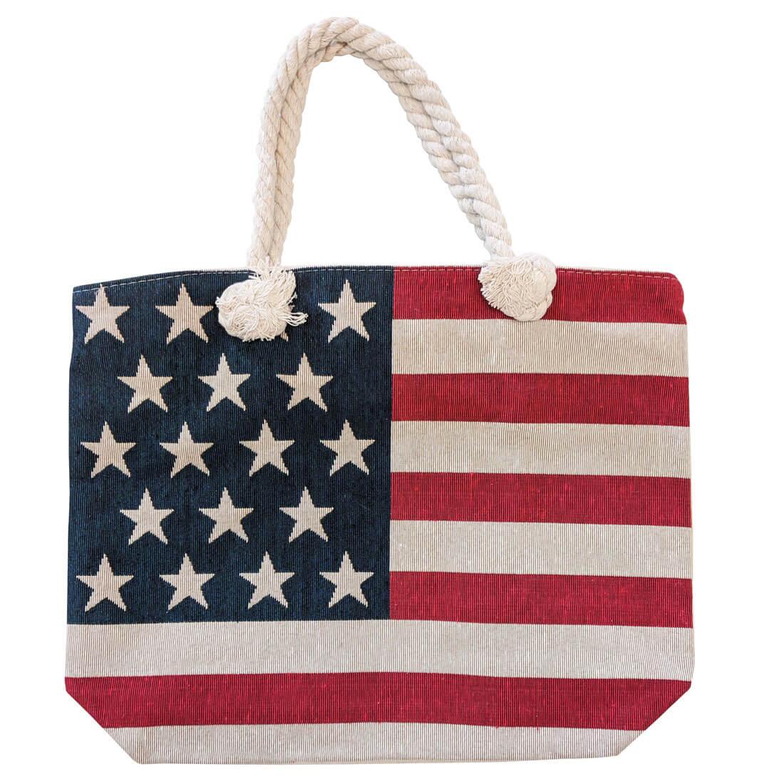 American Flag Patriotic USA Collage Purse Bag Hanger Holder Hook