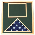 Oak Folded Ceremonial Flag & Document Case