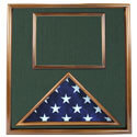 Walnut Folded Ceremonial Flag & Document Case