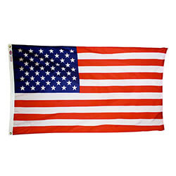 US flag with embroidered stars, US5080