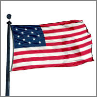 Historical American Star Flags