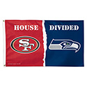 San Francisco 49ers Seattle Seahawks House Divided Flag