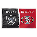 Oakland Raiders San Francisco 49ers House Divided Flag