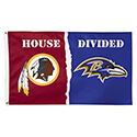 Washington Redskins Baltimore Ravens House Divided Flag