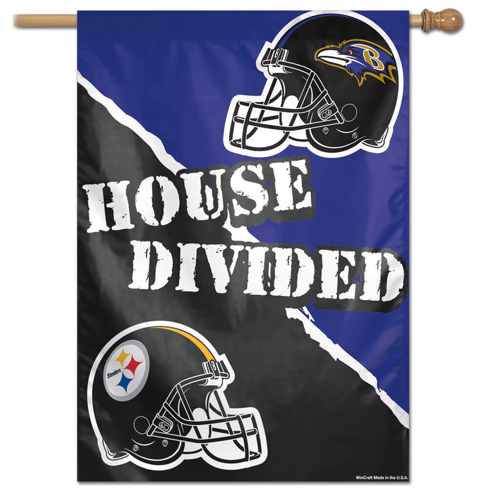 newest fdac5 632b7 Pittsburgh Steelers Baltimore Ravens House Divided House Banner (28 in x 40  in), WINC20911017H